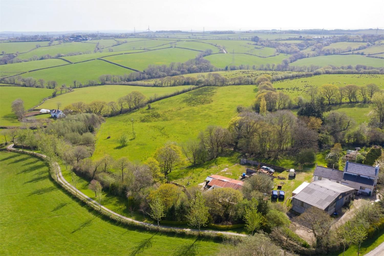 Aerial photo of Lower Westcott and surrounding fields