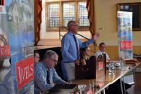 Kivells Summer Property Collective Auction - Simon Alford and solicitors at top table