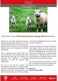 Kivells Spring 2019 Professional Newsletter