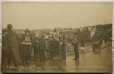 Bude Lifeboat day 1907 postcard sold £95
