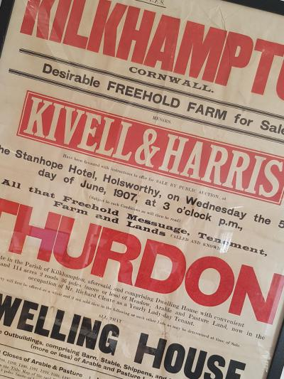 Kivell & Harris poster advertising an upcoming farm sale