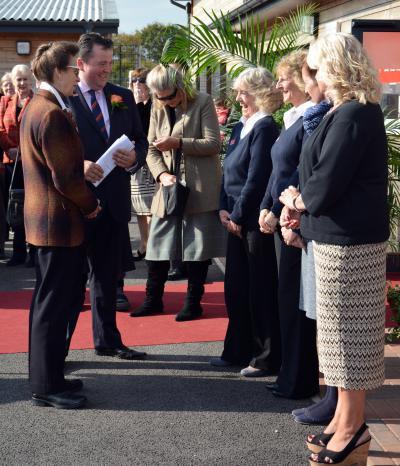 Annette Dennis meeting HRH Princess Anne