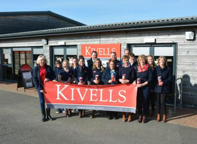 Kivells staff at Holsworthy Market with Kate from The Devon Air Ambulance Trust
