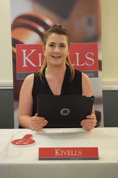 Kivells Callington Sales Negotiator Amanda Holt taking registrations